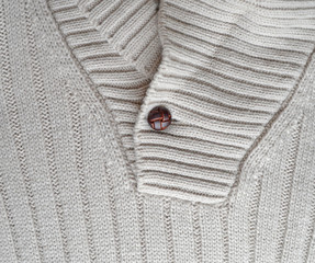 white woven leather button