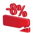 minus 8 percent