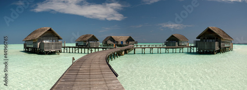 Overwater villa on the lagoon