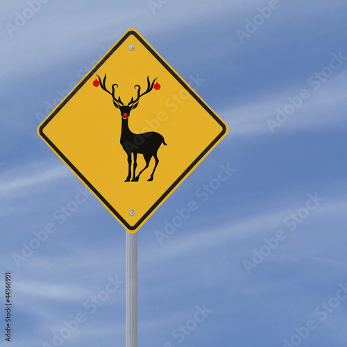 Christmas Road Sign