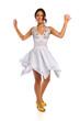 Young Hispanic Woman Dancing