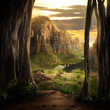 canvas print picture - Phantasy Landscape