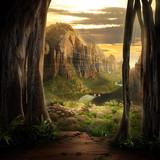 Fototapeta fantazja - dolina - Dziki pejzaż