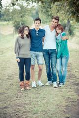 Group of Teenage Friends Outdoor