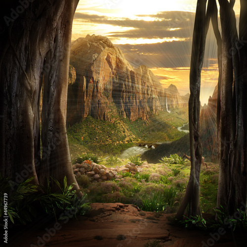 canvas print picture Phantasy Landscape