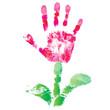 Palm print flower