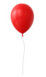 Leinwanddruck Bild - 3d red balloon
