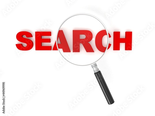3d magnifier with SEARCH logo