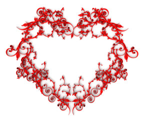 3d ornamental heart