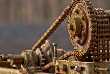 Old & Rusty machine part