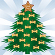 Good Dog Christmas Tree, star ornament, dog bone  treats