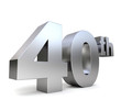 3d metal anniversary number - 40th