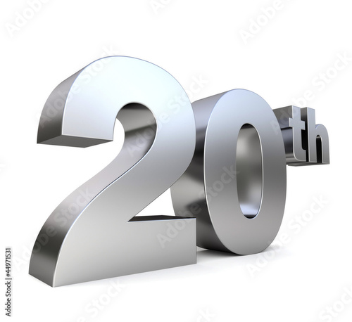 3d metal anniversary number - 20th