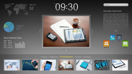 Modern desktop application concept
