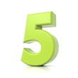 3D green number collection - 5