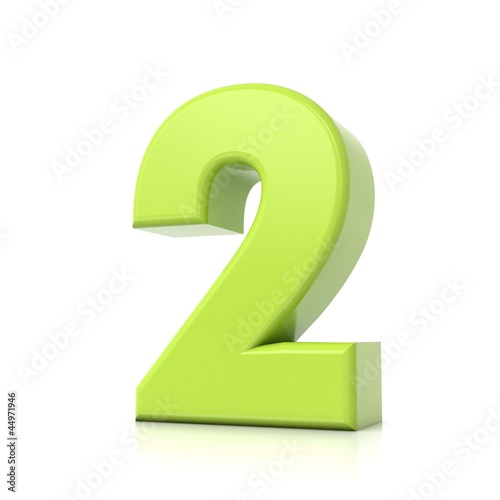 3D green number collection - 2