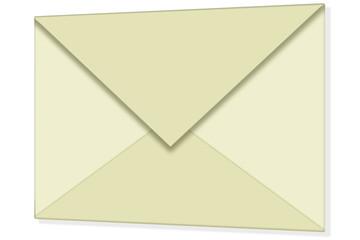 3d rendered letter, 3d Umschlag