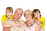 Grandparents with their Pleasant grandchildren poster