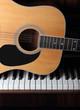 guitar part on piano keys