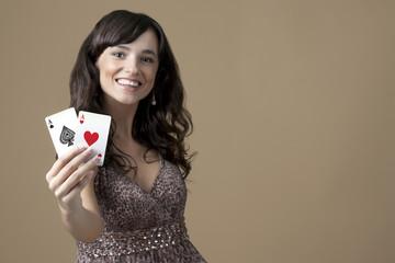 Sexy beautiful young casino girl