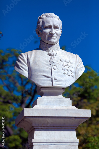Statue of Cuban Governor, founder of city, Cienfuegos, Cuba