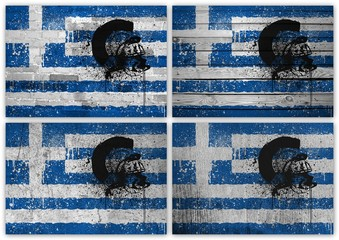 Greek flag collage