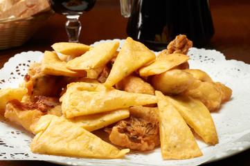 fritto misto di specialità palermitane