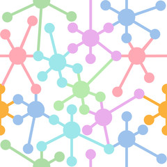 Network connection nodes seamless pattern