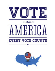 Vote for America poster
