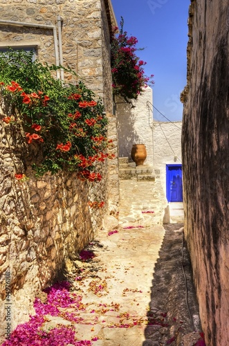 Greek island alley