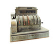 Leinwandbild Motiv Antique crank-operated cash register