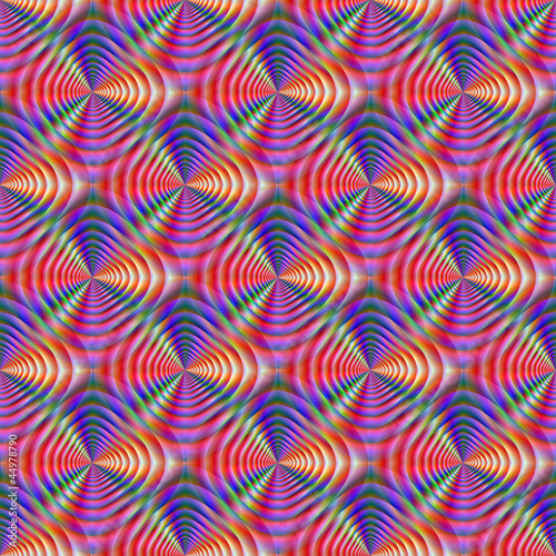 Foto op Canvas Psychedelic Seamless Psychedelic Pattern