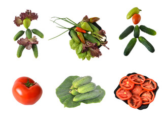 collage from vegetables