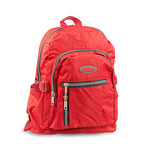 Red Backpack for traveling school and hiking