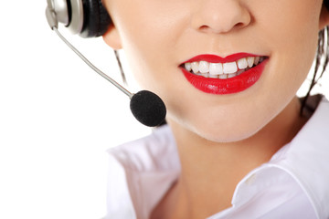 Young call-centre assistant