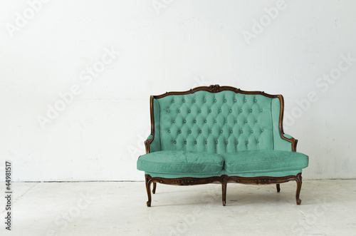 Stock Photo: vintage luxury armchair in white room