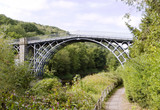 The Iron Bridge on River Severn, Ironbridge Gorge, Shropshire,