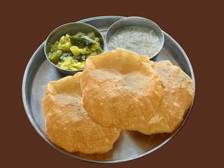 Indian Vegetarian Food, known as Poori