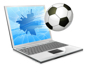 Soccer football laptop concept