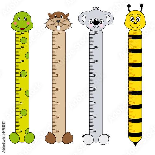 Medidor de pares para niños. Animales