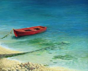Fishing boat in island Corfu