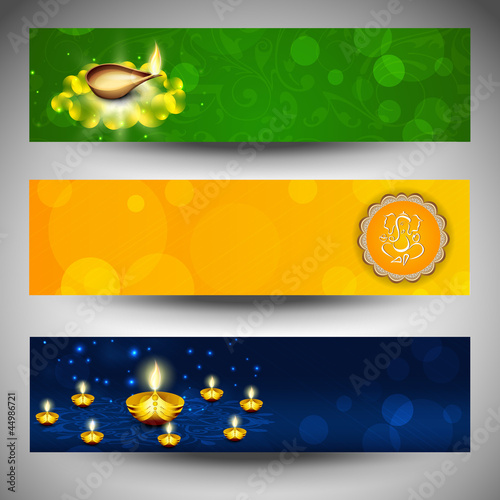 Website headers or banners for for Hindu community festival Diwa
