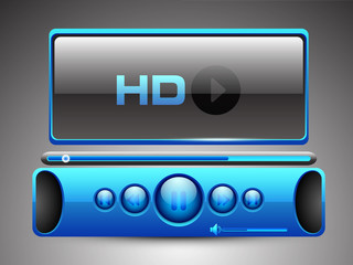 HD MP3 player. EPS 10.