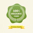 Vector Organic Food Label