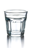 glass of clear alcohol poster