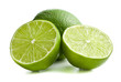 two halves of lime