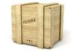 Caisse de bois sur fond blanc 1 - 44988378