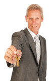 House broker with keys poster