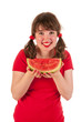 Eating water melon