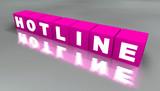 3D Schriftwürfel - HOTLINE